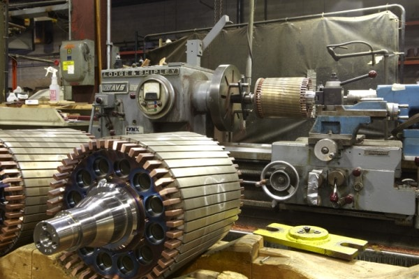AC Rotor Production in Process