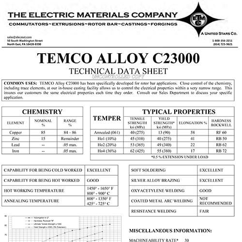TEMCO Alloy C23000