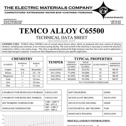 TEMCO Alloy C65500