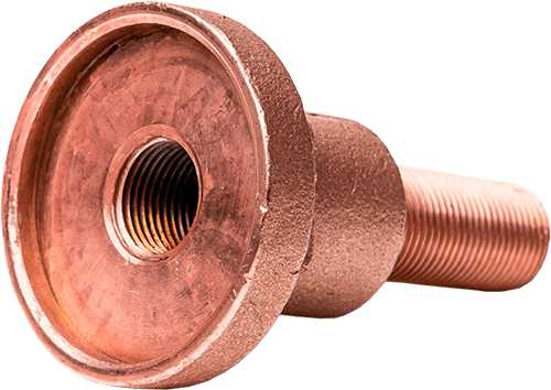 machined copper component