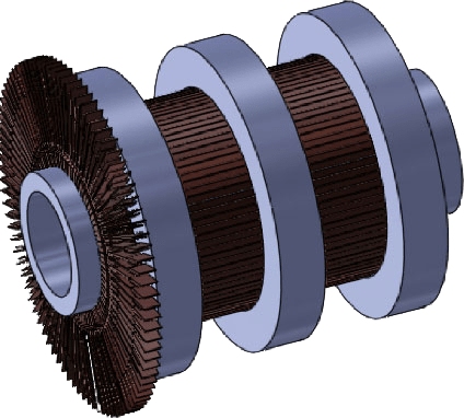 external shrink ring commutator