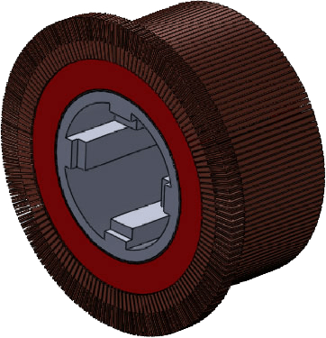 internal shrink ring commutator
