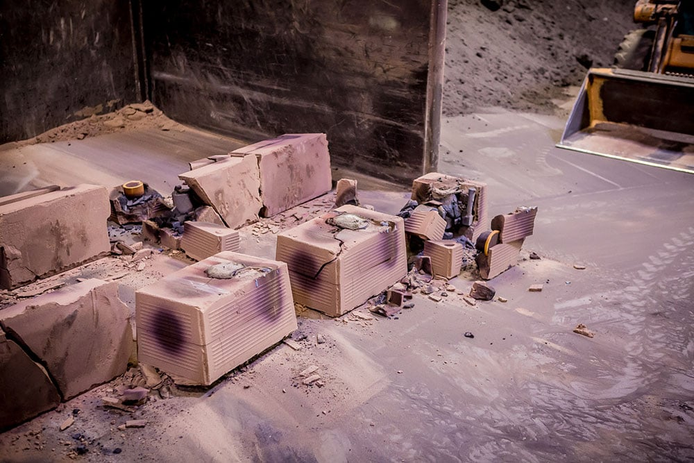 Cooling Foundry Sand Casts